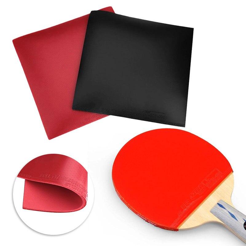 Forfar 1 pcs 16.5*16.5*0.4 cm Table De Tennis Raquette Pad Nouveau Tennis De Table Raquette Boutons En PingPong raquette En Caoutchouc Éponge rouge/noir