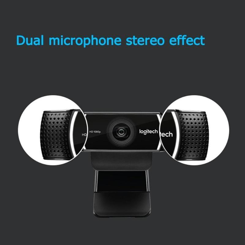 Logitech C922 Pro Autofocus Webcam Microphone intégré Streaming vidéo Web Cam 1080P 30FPS Full HD caméra d'ancrage avec trépied nouveau - 5