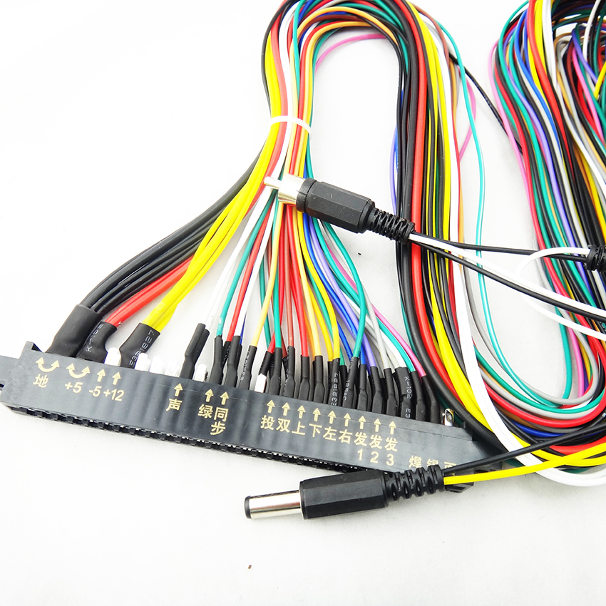 US $18.62 |LCD Jamma Harness 28 pin with 6,8 ons wires for arcade game on