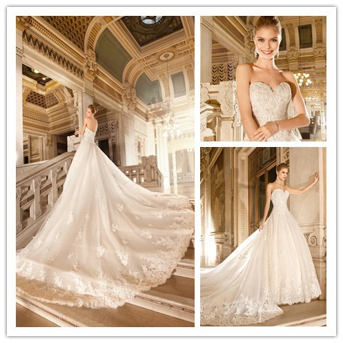 hot sale luxury royal wedding dress a line floor length