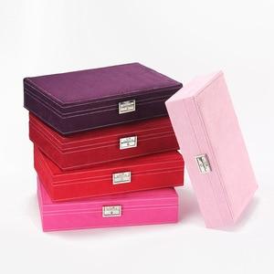 Image 3 - Guanya Hot Sell High grade Velvet Jewelry Box, Studs Earrings Ring Storage Case,New Style Women Wedding Graduation Birthday Gift