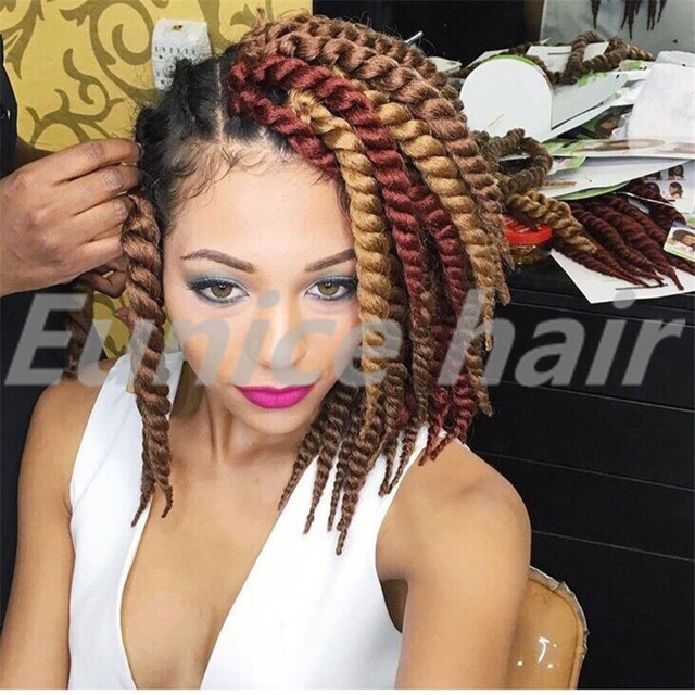 Box Braids Twist Style Hair Extensions Elastic Colored Crochet Braids ...