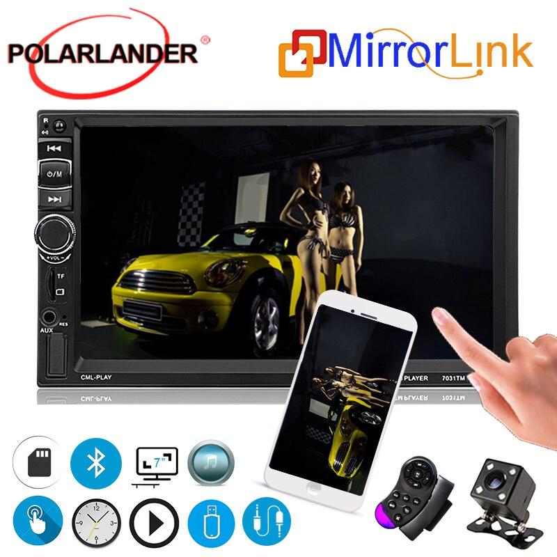 2 Din multimédia Autoradio écran tactile 7031TM lien miroir pour Android MP5 lecteur 7 pouces voiture volant Autoradio Bluetooth