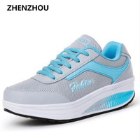 Free Shipping 2015 Women S Swing Shoes Breathable Gauze Platform Shoes Single Elevator Shoes