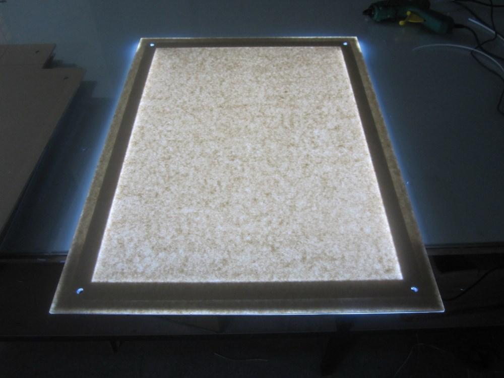 Super slim 27 pulgadas X 40 pulgadas led cajas de luz de cristal ...