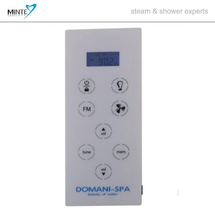 AC 12V Low Voltage White Color Shower Steam Cabin FM Radio Control Panel