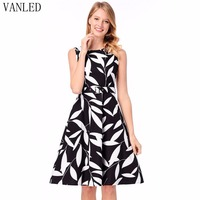 Plus Size Special Offer New O Neck Tank Zanzea Vestidos Mujer Vanled 2018 Summer Printed Dress