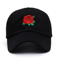 2017 Fashion Summer Women Men Cap High Quality Embroidery Rose Baseball Cap Unisex Snapback Hat Hip Hop Caps Baseball Hats fall