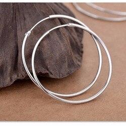 925 sterling silver earrings Big earrings Earrings for women Wedding earrings Round earrings Silver earrings Earrings circle