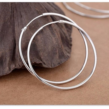 925 sterling silver earrings Big Earrings for women Wedding Round Silver circle - discount item  30% OFF Fine Jewelry
