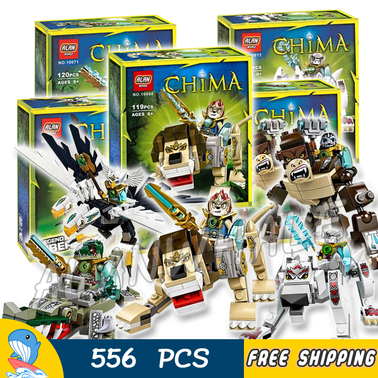 100pcs Bela Lion Eagle Gorilla Crocodile Wolf Legend Beast DIY Striker Building Blocks Model Toys Compatible with Lego100pcs Bela Lion Eagle Gorilla Crocodile Wolf Legend Beast DIY Striker Building Blocks Model Toys Compatible with Lego