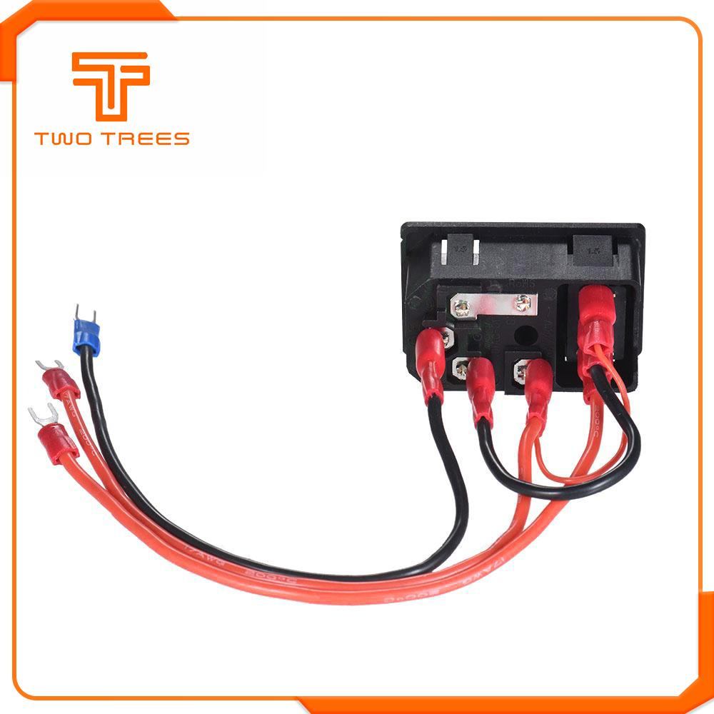 220V/110V 15A Power Supply Switch Male Socket with Fuse as 3D Printer Accessories 4