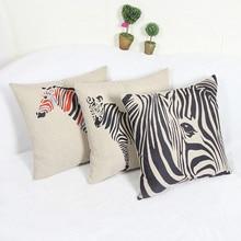 Guanggun Jie 2017  Sale Rustic Zebra Cushion Cover for Sofa Home Decorative Throw Pillow Case Chair Car Seat lumbar cushion for car massage pillow
