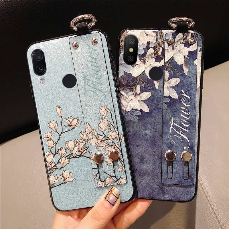 glitter flower phone case for oppo realme 1 2 3 pro u1 c1 X lite k3 a1k wristband strap finger ring stand holder TPU capa fundas in Fitted Cases from Cellphones Telecommunications