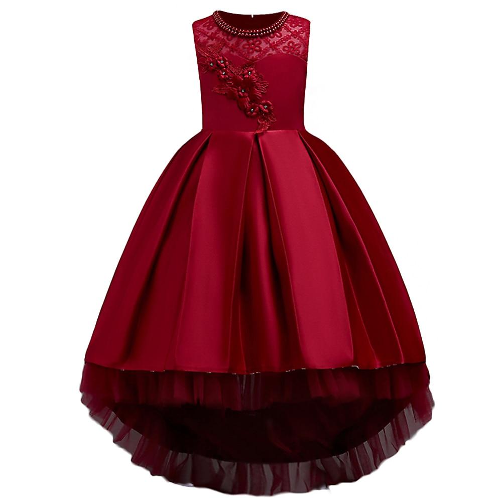 BAOHULU/платье с цветочным узором для маленьких девочек торжественное летнее платье с аппликацией для дня рождения, свадьбы, выпускного вечера Vestidos для детей 3, 10, 16 лет