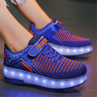 Adult Kids Shoes heelies Two Wheels Luminous Sneakers USB Charging Led Light Roller Skate Shoes for Children Kids Shoes