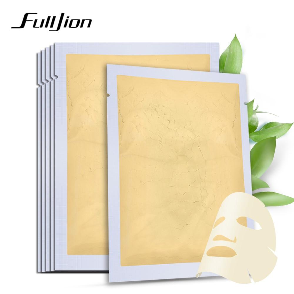 Fulljion 24K Gold Collagen Active Face Mask Powder Skin Whitening Moisturizing Anti Wrinkle Anti-Aging Skin Care Facial Masks