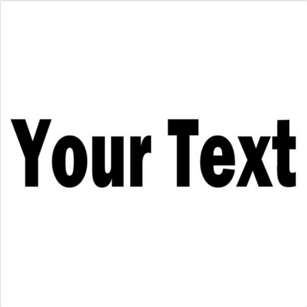 Your text vinyl decal sticker car window bumper custom personalized lettering sticker free shipping
