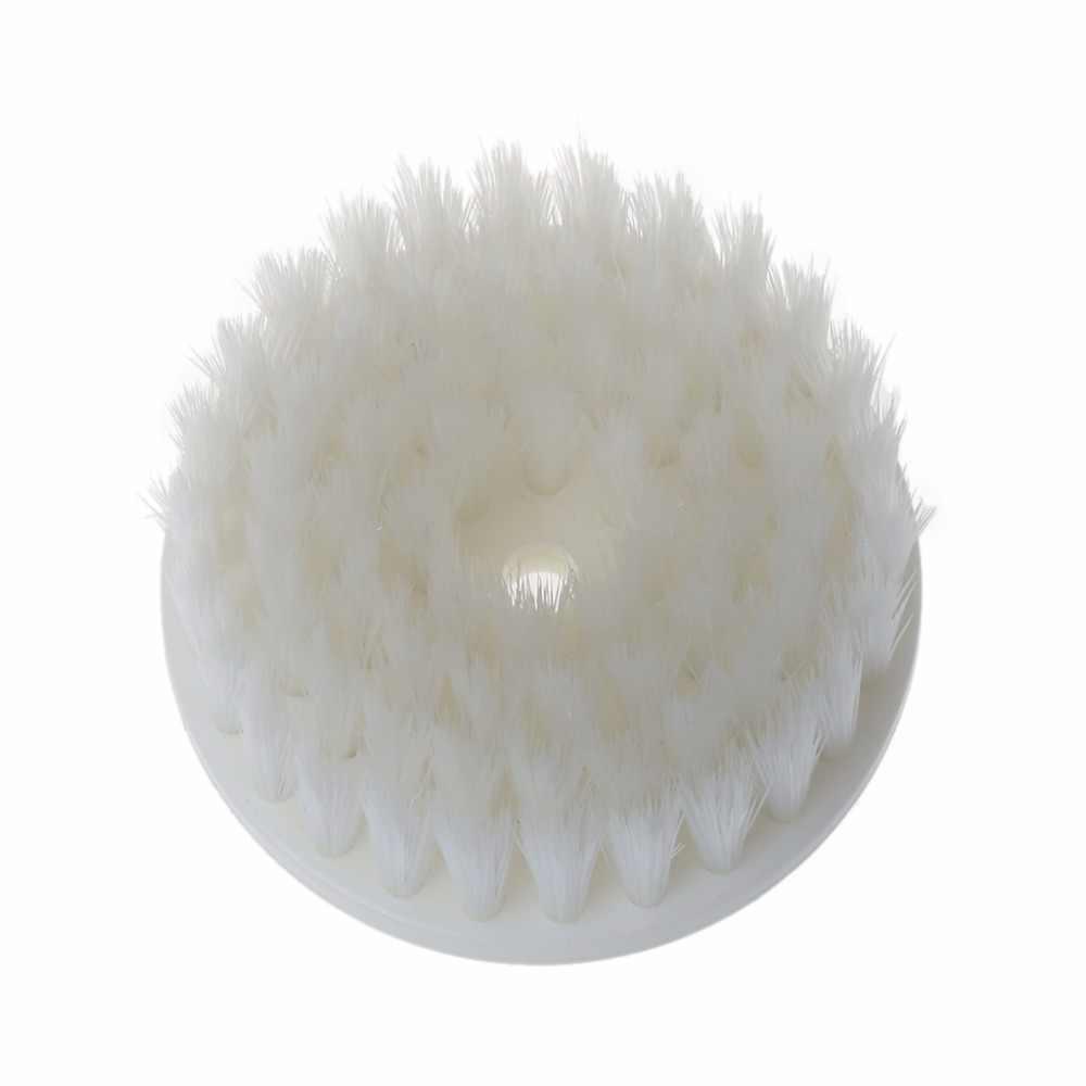60 мм белый Nanowire + пластиковая мягкая дрель с питанием головка щетки для очистки автомобильный коврик для ванной ткань Новинка