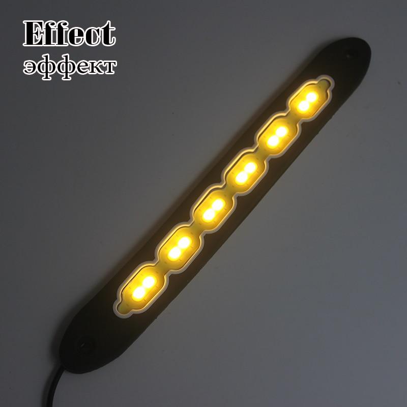 2 adet COB LED DRL Gündüz Farları Süper Parlak Araba Sürüş - Araba Farları - Fotoğraf 2