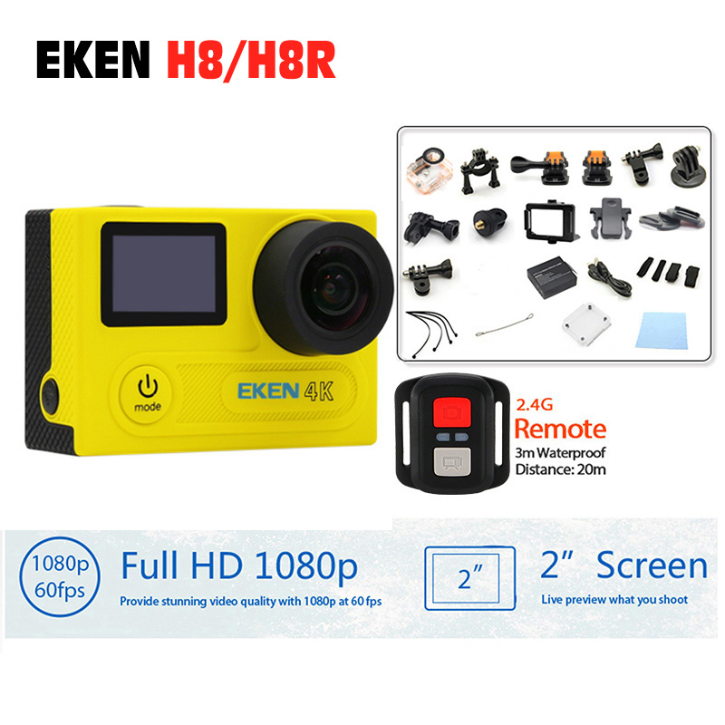 Original EKEN H8R H8 Sport action camera VR360 Remote Control ultra 4K/30fp WiFi 2.0 Dual LCD Helmet Cam waterproof Sport DV original eken action camera eken h9r h9 ultra hd 4k wifi remote control sports video camcorder dvr dv go waterproof pro camera