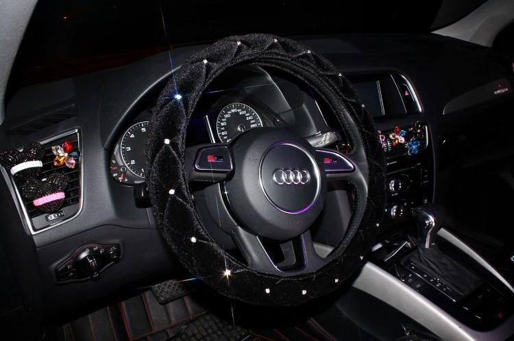Rhinestone Crystal Car Steering Covers