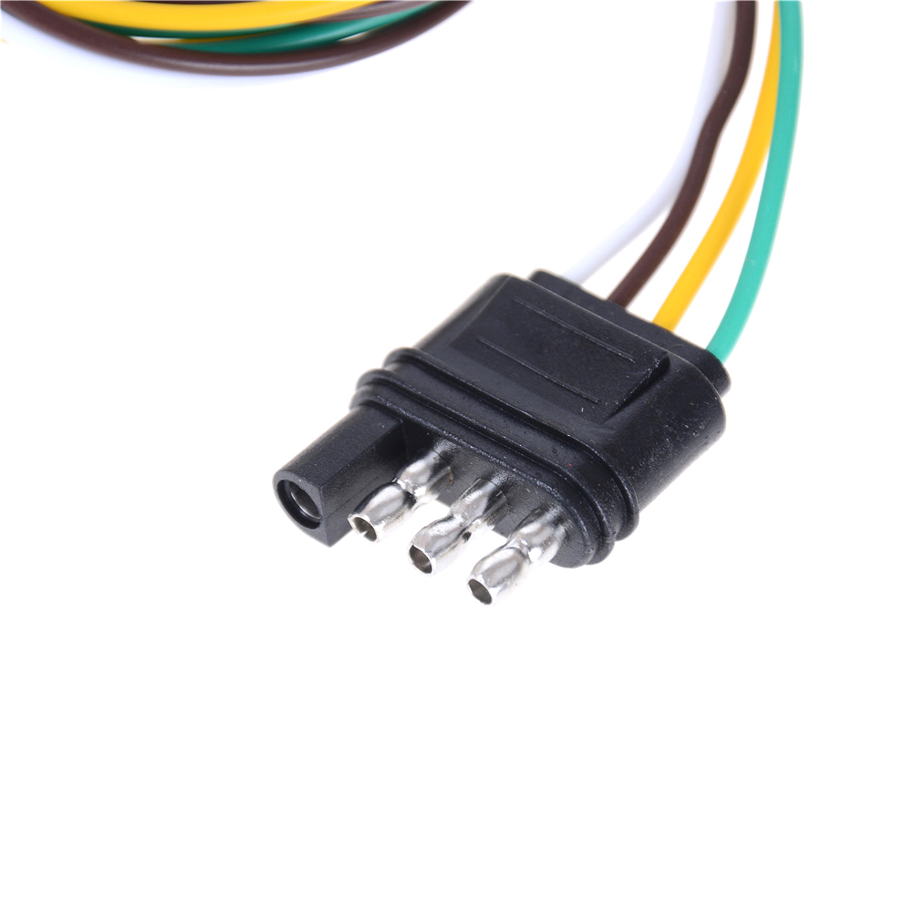 Trailer Light Wiring Harness Extension 4 Pin Plug 18 AWG Flat Wire  Connector Trailer Male Plug New-in Connectors from Lights & Lighting on  Aliexpress.com ...