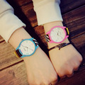 Original Ulzzang Brand leather Strap Jelly Quartz Wristwatches for Women Ladies Lovers pink Watch