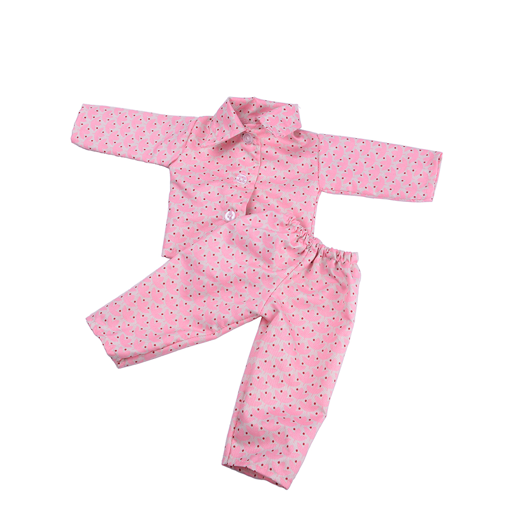 Lovely Leaf Pajamas Set Doll Clothes Wear Fit 18 Inch  Children Best Birthday Gift N535