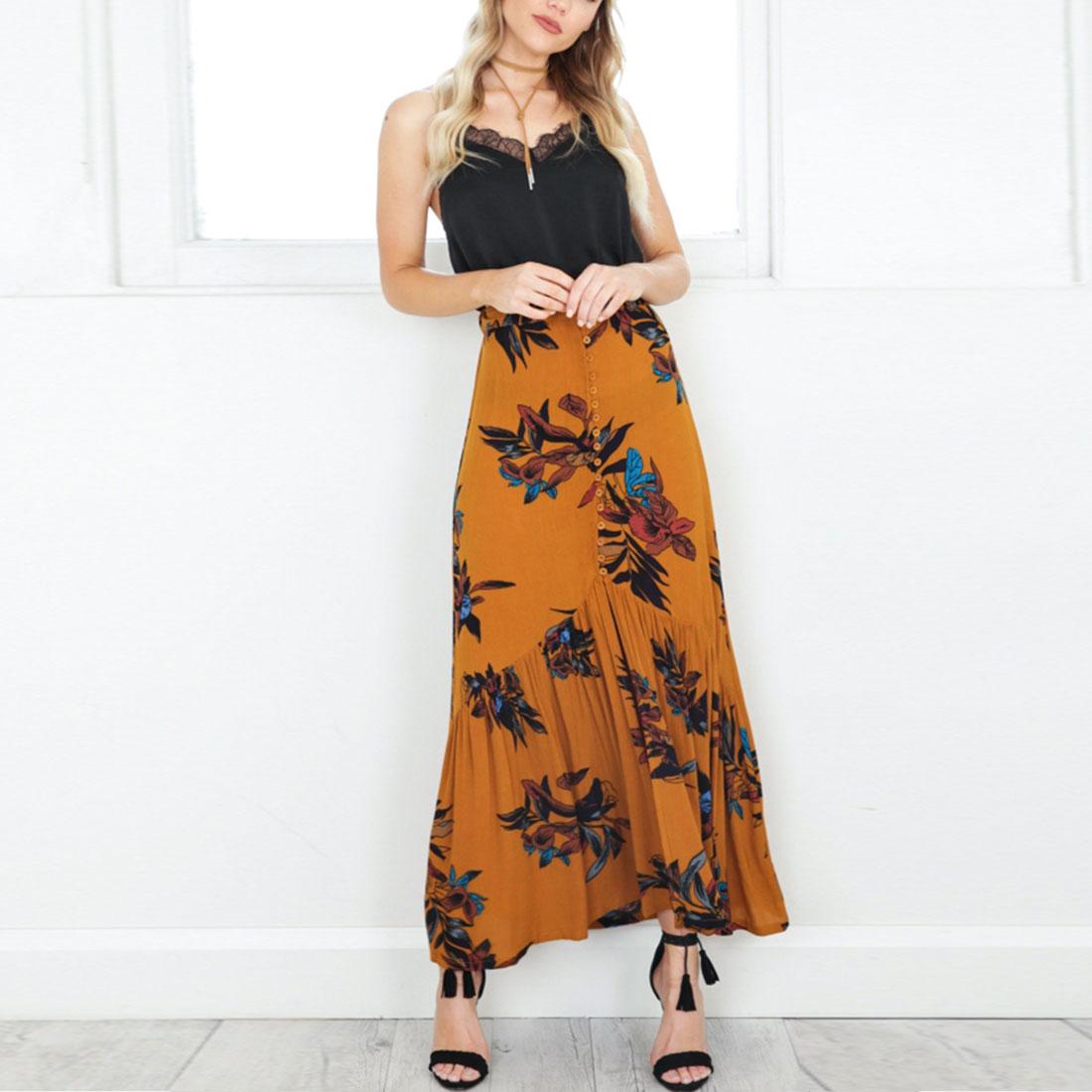 Юбка макси цветочная