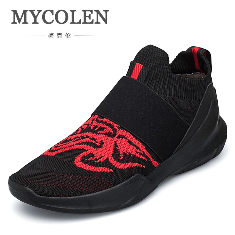 MYCOLEN 2018 Spring/Autumn New Models Men Shoes Fashion Comfortable Youth Casual Shoes Male Soft Mesh Lazy Shoes Sapatos spring autumn casual men s shoes fashion breathable white shoes men flat youth trendy sneakers