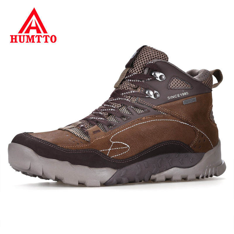 HUMTTO Brand Hiking Shoes Professional Genuine Leather Trekking Mountain Sneakers Waterproof Lace-up Men Camping Outdoor ShoesHUMTTO Brand Hiking Shoes Professional Genuine Leather Trekking Mountain Sneakers Waterproof Lace-up Men Camping Outdoor Shoes
