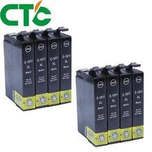 8 Pack 18xl  Black Ink Cartridge Compatible for INK Expression Home XP-30 XP-102 XP-202 XP-205 XP-302 XP-305 XP-402 XP-405