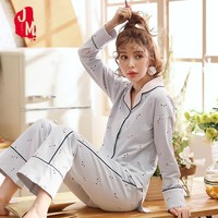 Sleep Cotton Pyjama Women Set Autumn Winter Pyjama Femme Coton Long Sleeve Night Pajamas Female Pajama Plus Size Homewear XL XXL