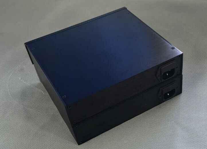 2104 все алюминиевые шасси усилителя/декодер DAC/AMP корпус/DIY коробка (210*46*191 мм)