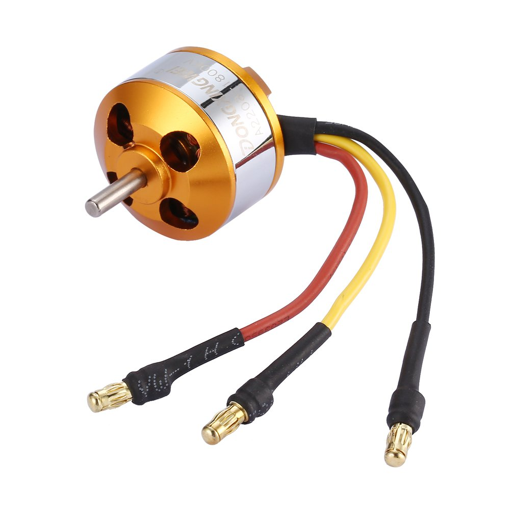 DXW A2208 Outrunner Brushless Motor 1100KV/1400KV 2 4S 1800KV/2600KV 2 3S Drone Motor RC Fixed Wing Drone Propeller-in Parts & Accessories from Toys & Hobbies