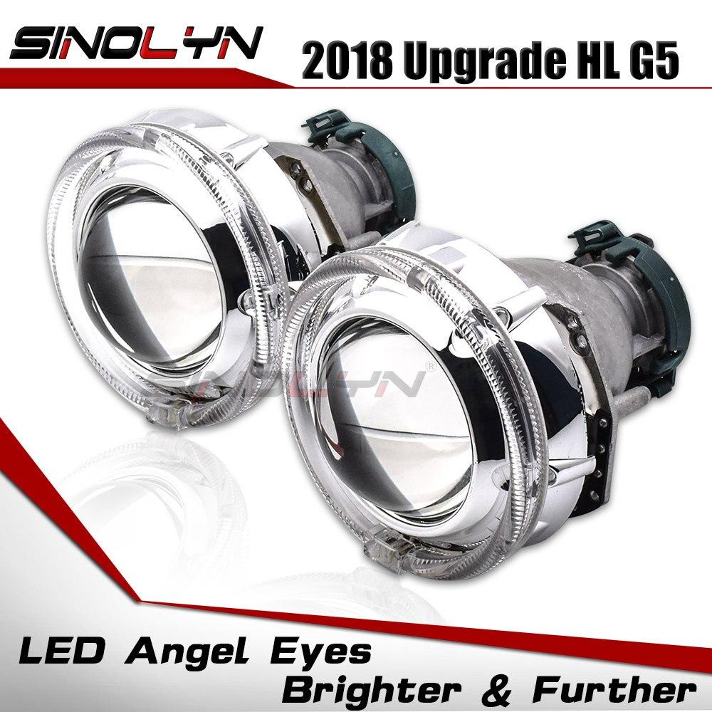3.0 Fiber Optique LED Angel Eyes Haubans DRL D2S HID bi-xénon Projecteur Lentilles Accessoire Pour Hella 3R G5 5 voitures Phare Rénovation