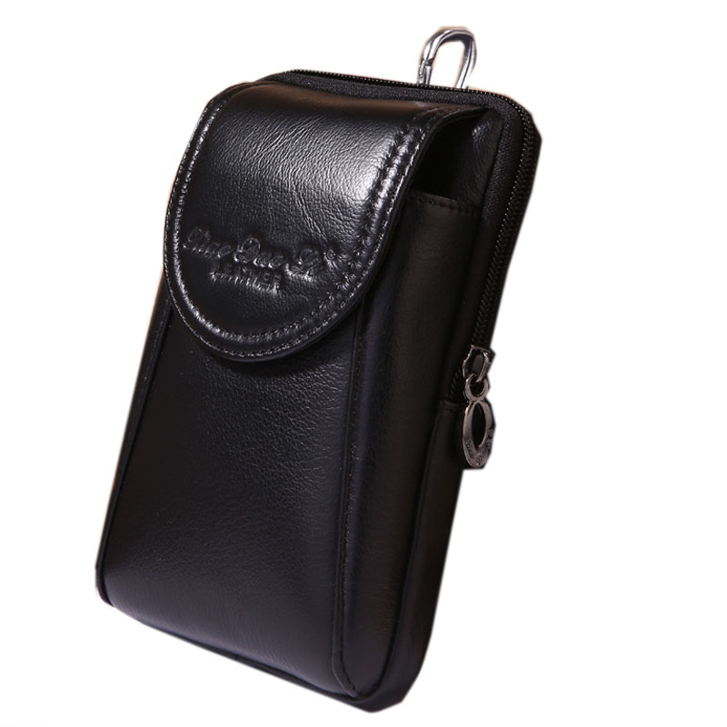 New Men Genuine Leather Vintage Cell/Mobile Phone Cover Case Skin Hip Belt Bum Purse Fanny Pack Waist Bag Hook Pouch