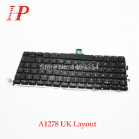 5PCS Genuine A1278 UK EU Keyboard With Backlight For Apple Macbook Pro 13'' A1278 Keyboard 2009-2012