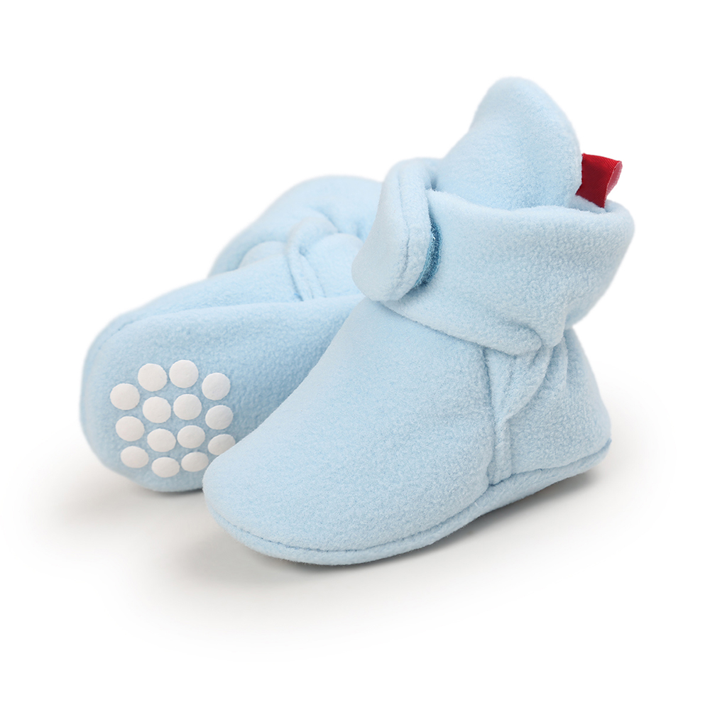 Nice Newborn Baby Boots Unisex Home Walking Boots Baby Winter Keep Warm Shoes Soft Bottom Soled Baby Crib Booties Shoes Daily Wear Boots