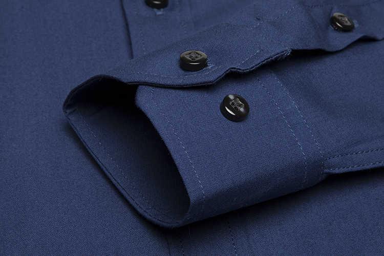 秋のドレスシャツ用ビジネス男性トップ品質長袖カジュアル固体リネンコットンシャツ中国男性服pauljones
