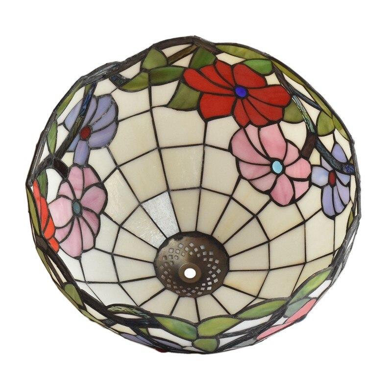 mesa com contas cristal vitrais lampada sombra 05