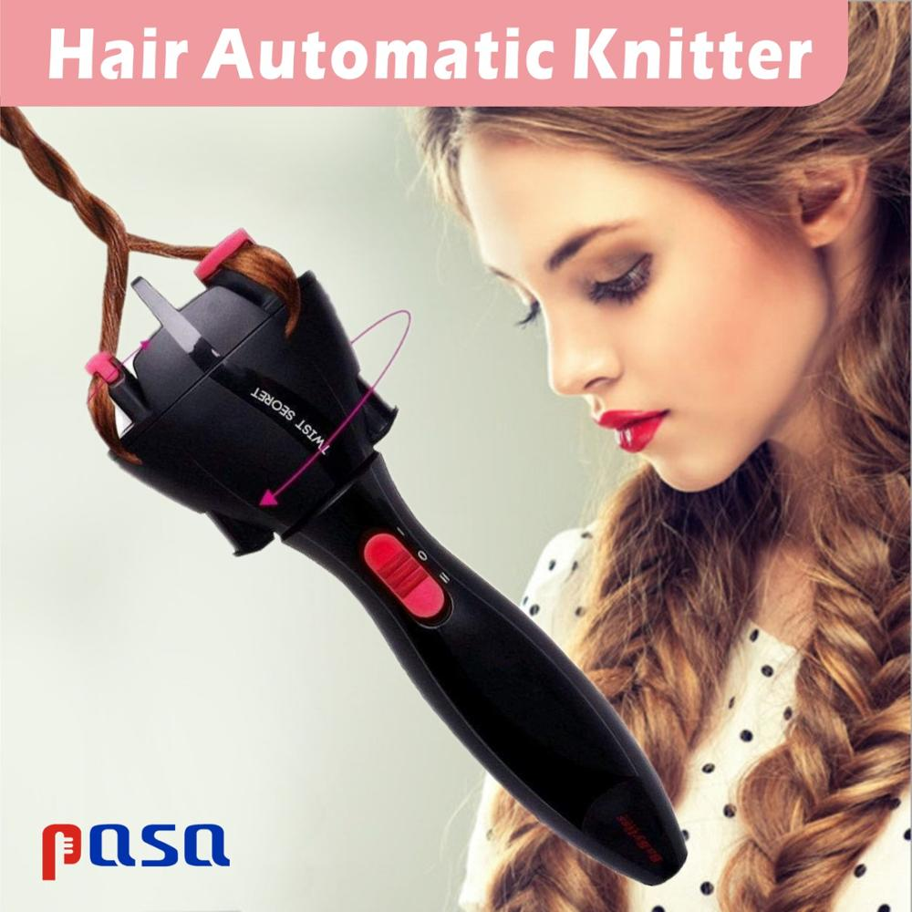 Electric Hair Styling Tool Automatic Knitted Device Hair Braider Styling Two Strands Twist Braid Maker Hair Braider DIY Electric