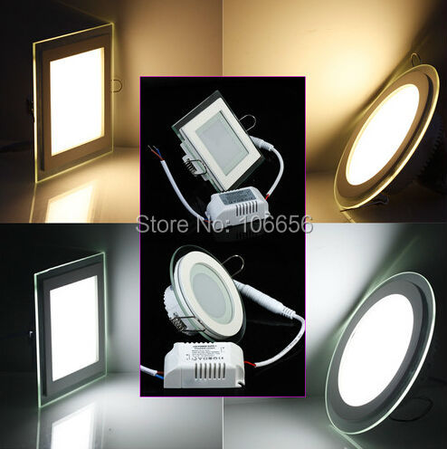 SMD5730 Glass edged 6w 12w 15w waterproof round square led downlight