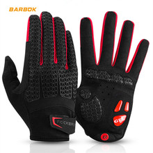 ROCKBROS Racing Touchscreen Motocross Gloves Motorcycles Downhill Cycling Riding Off Road Full Finger Gel Liquid Silicone