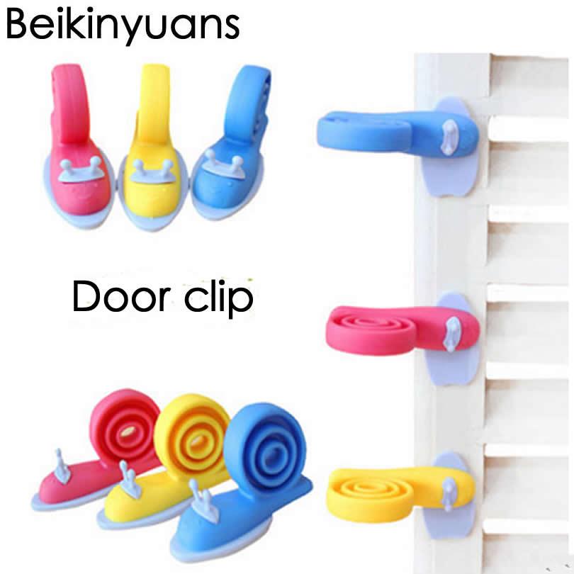 Children Safety Cartoon Door Clamp Pinch Hand Security Card Cute Animal Baby Door Stopper Snail Clip  Baby Door Lock Windbreak