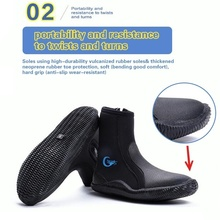 5MM Neoprene Diving Shoes High Upper Scuba Anti Slip Diving Boots Keep Warm Swim Shoes Fishing Winter Swimming Fins Accessories