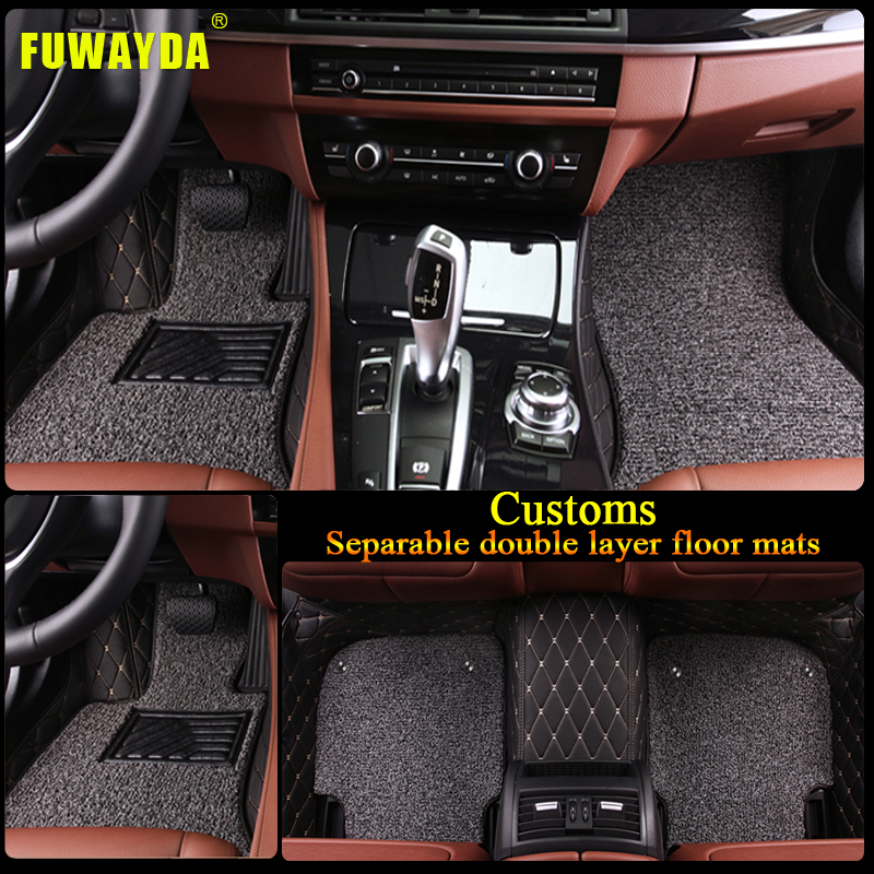 100 Toyota Sequoia Hd Wallpapers: Free Shipping Luxury Double Layer Fabric Car Floor Mats