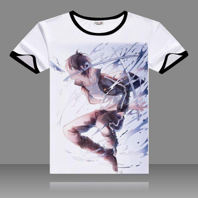 2017 футболкалар Noragami Cosplay Black O-Neck Қысқа - Костюмдер - фото 4