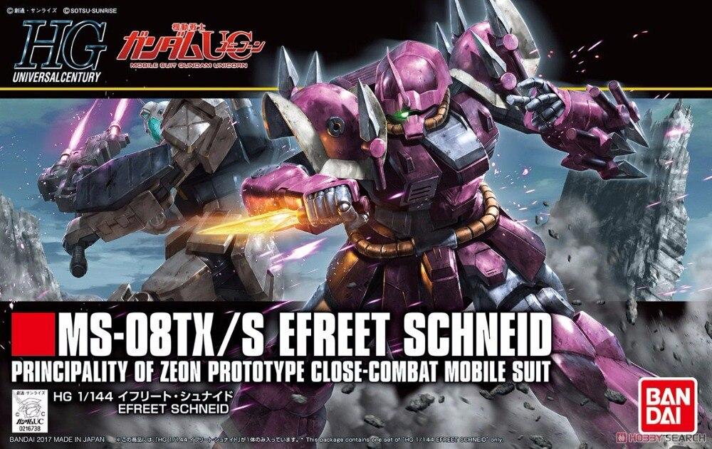 1PCS Bandai 1/144 HGUC 206 MS-08TX SIfler Schneid Gundam Mobile Suit Assembly Model Kits lbx toys education toys bandai bandai gundam model sd q version bb 309 sangokuden wu yong bian xiahou yuan battle
